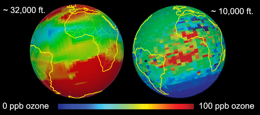 Ozone Concentrations December 2004