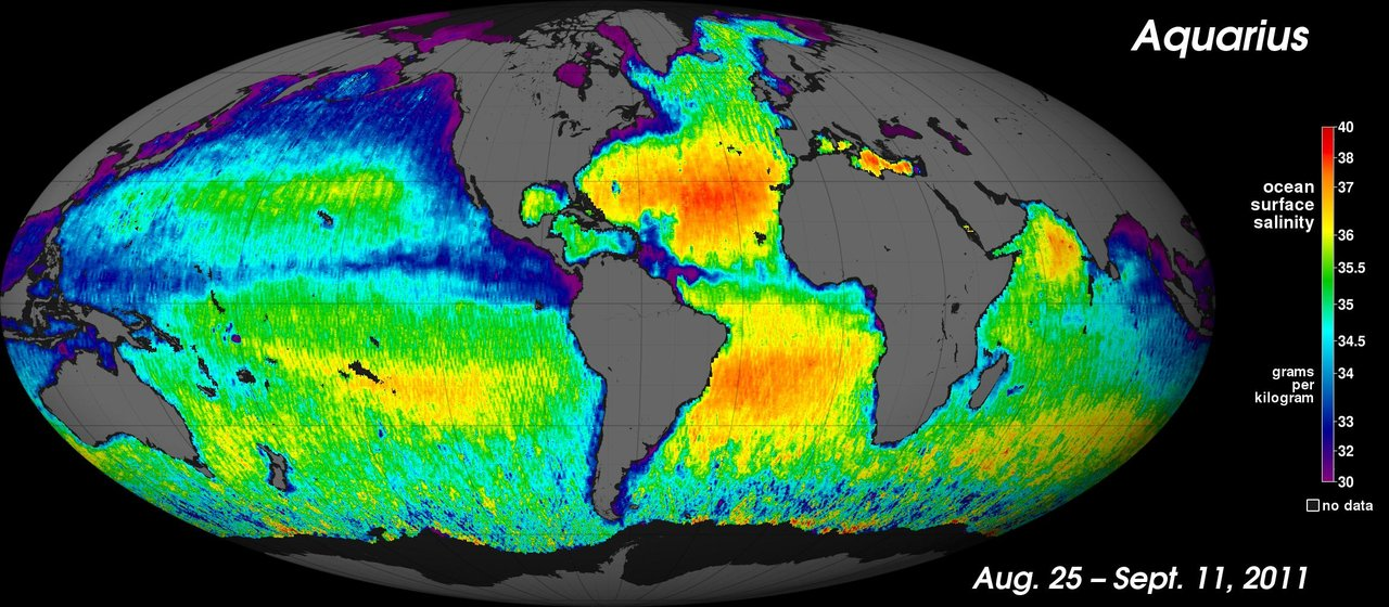 Aquarius Salinity Map