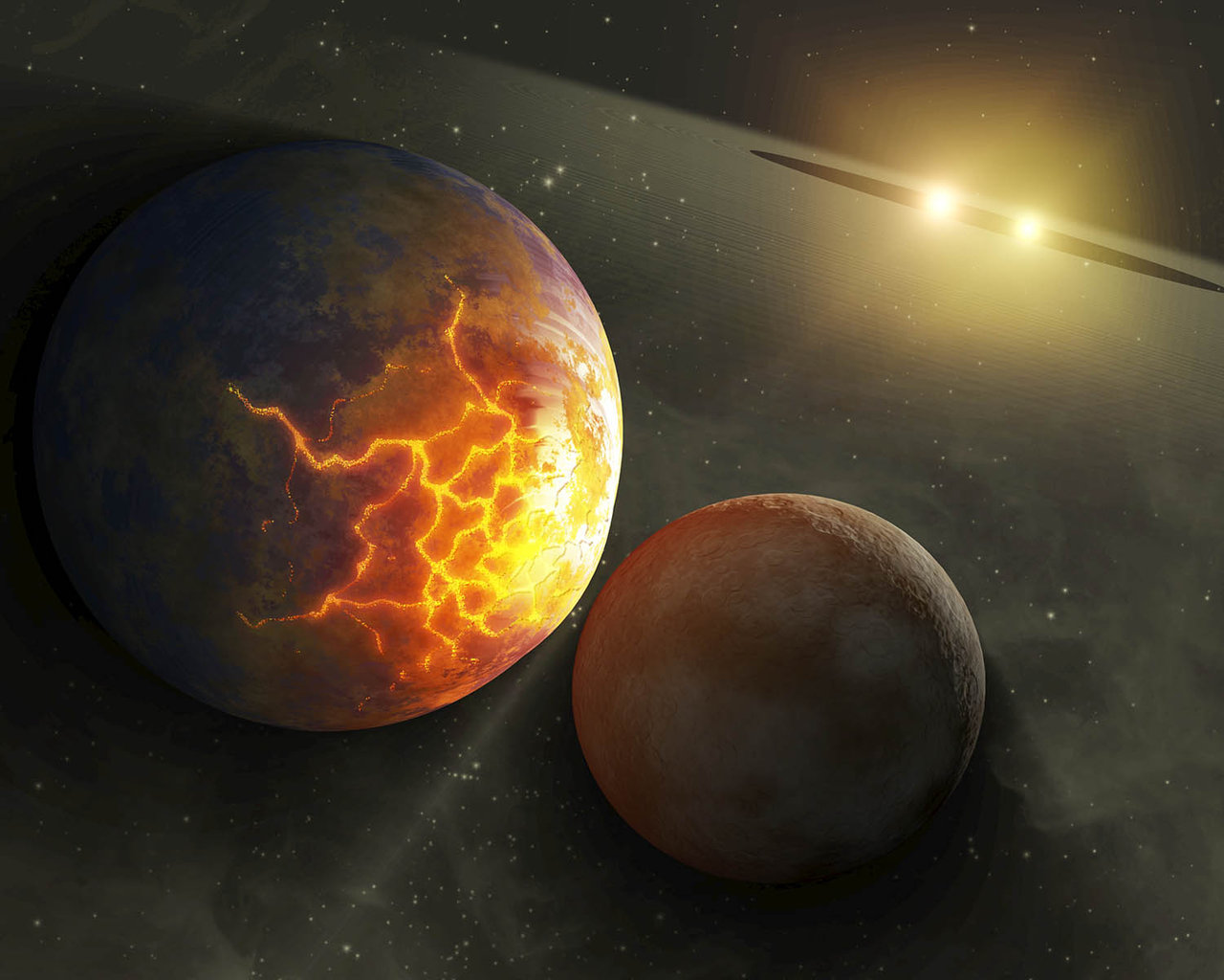 Pulverized Planet Dust May Lie Around Double Stars