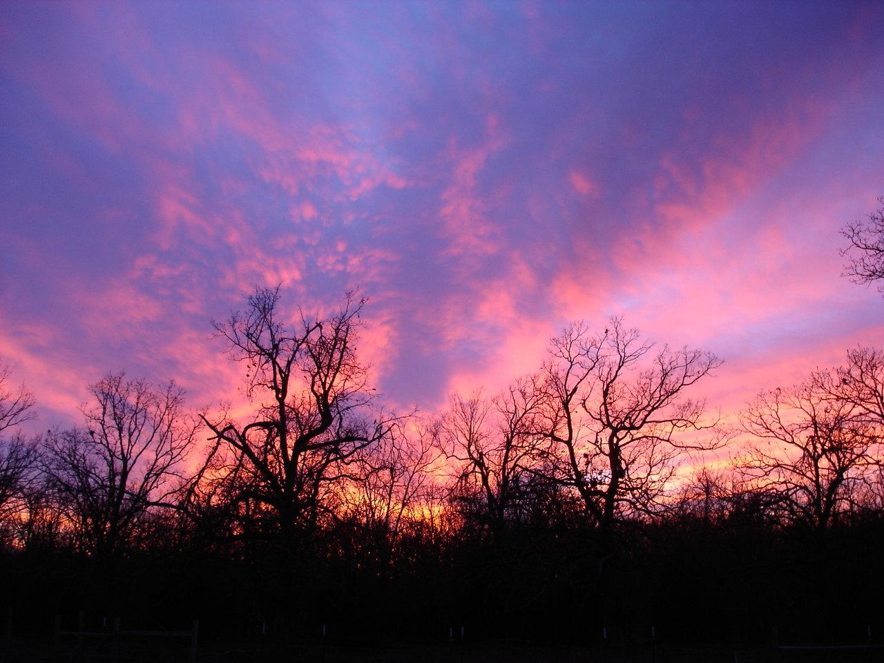Sunset over Diamond Bar G Ranch