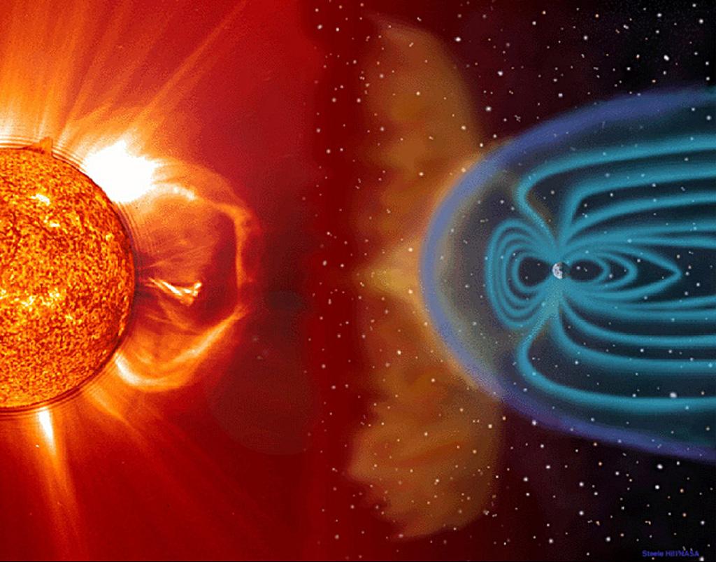 Solar Storm — Artist's conception.