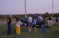Many folks came and enjoyed the Star Party in the evening on Astronomy Day, 2011