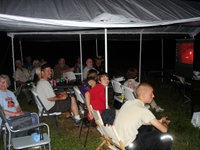 John Reed gives a great talk on amateur astronomy Friday evening after dusk. Photo by Dave Grosvold.