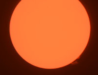 This is another image of the Sun from the same day, same setup, but it looks slightly less well focused. Still, not TOO bad, though