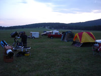Dusk is settling on the MMSP Camp on Saturday night. Photo by Dave Grosvold.